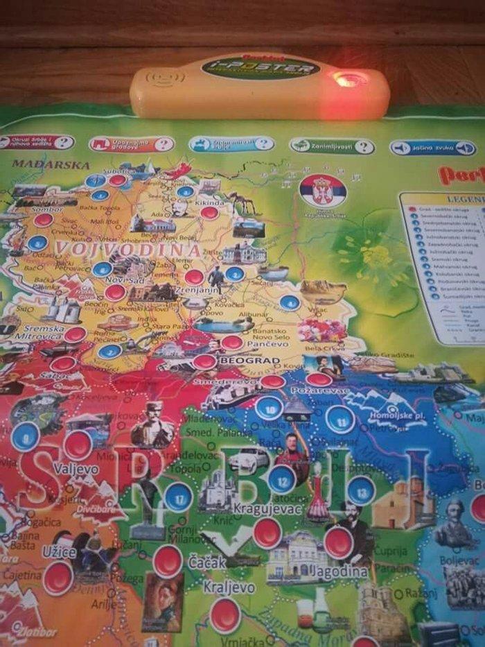 mapa srbije igracka Interaktivna MAPA SRBIJE nova ispravna pogledati slike, price  mapa srbije igracka