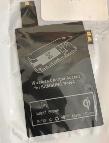 ΑΝΤΑΠΤΟΡΑΣ Wireless Charger accept for Samsung Note4 για ασύρματη φόρτιση για SAMSUNG Note 4, ΔΩΡΕΑΝ ΑΠΟΣΤΟΛΗ ΠΑΝΤΟΥ