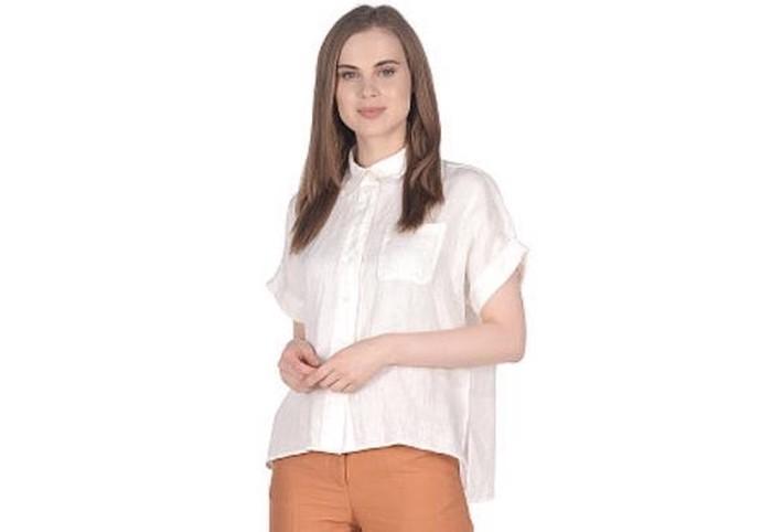 Блузка - натуральный лен. Размер 44-46. BENETON. Новая . Photo 0