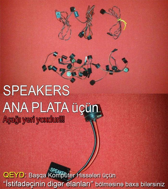 Bakı şəhərində Speakers. Ana plata ucun speakers. Komputerde olan nasazliqlari