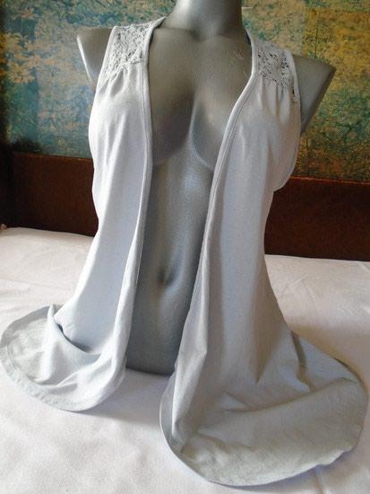 Sivi ogrtač/kardigan, za dame, M veličine od 100% pamuka. - Beograd