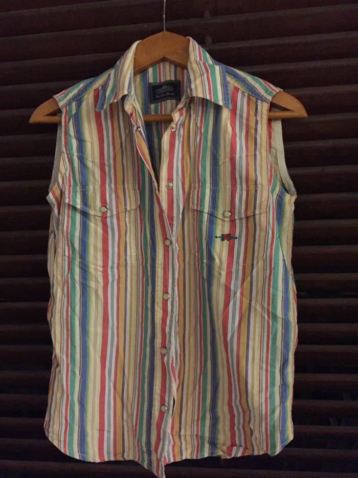 Αμάνικο ριγέ πουλάμισο Charro No Small . Εξαιρετική κατάσταση , φορεμέ. Photo 1