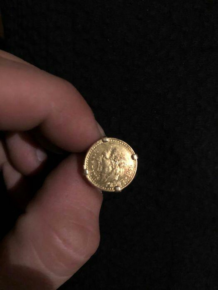 Καθαρο χρυσο δαχτυλιδι λιρα κ9 βαρος  12 γραμμ.. Photo 1