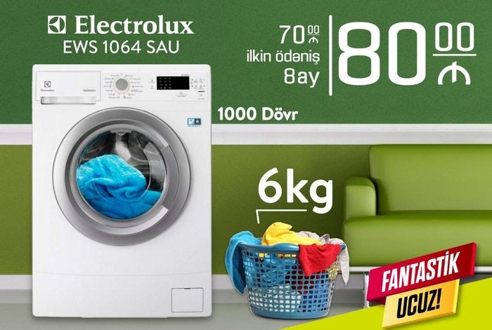 Bakı şəhərində İkitərəfli Avtomat Washing Machine Electrolux 6 kq.