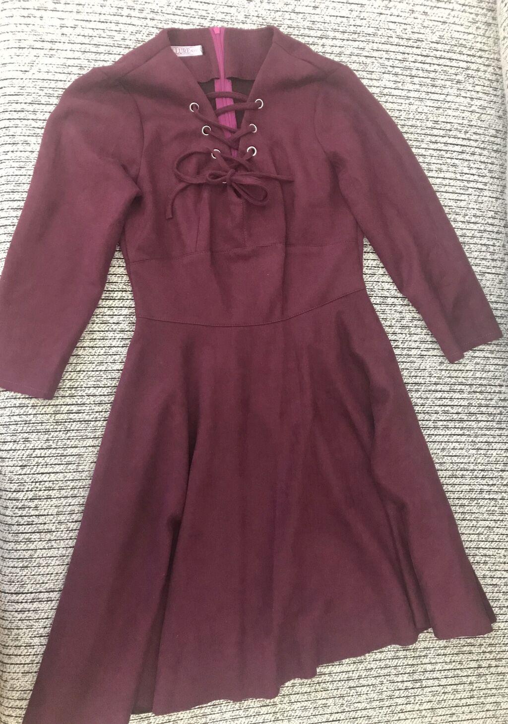 Замшевое платье. Вживую цвет насыщеннее