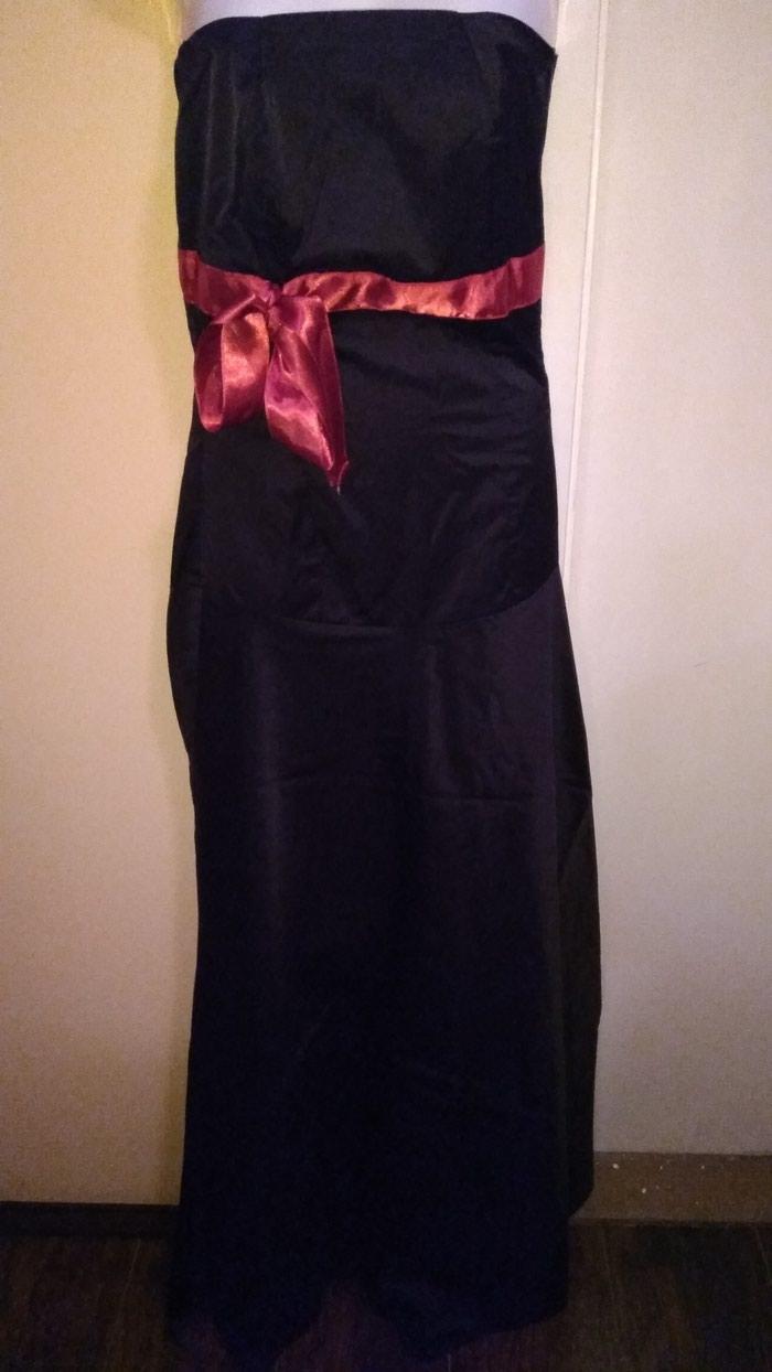 Elegantna, haljina satenska, velicina s, m uz haljinu, ide i satenski bolero, od nje