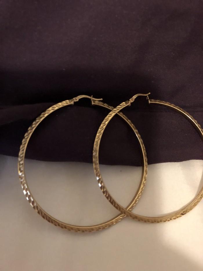 Προς πώληση! Μεγάλα 10K χρυσός σκουλαρίκια! Made in Italy!. Photo 0