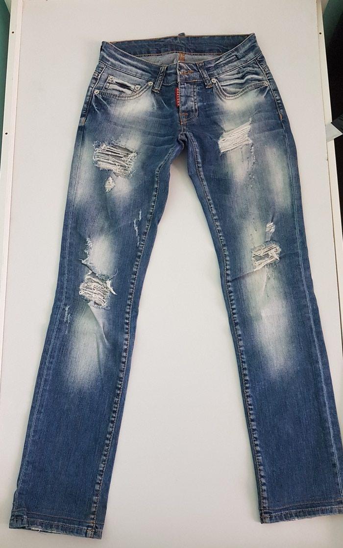 Рваные джинсы прямые. Photo 0