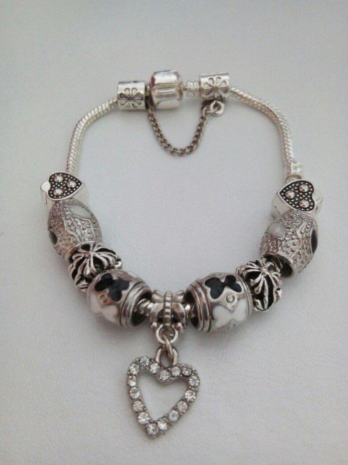 Pandora stil narukvica,posrebrena,19 cm - Zrenjanin