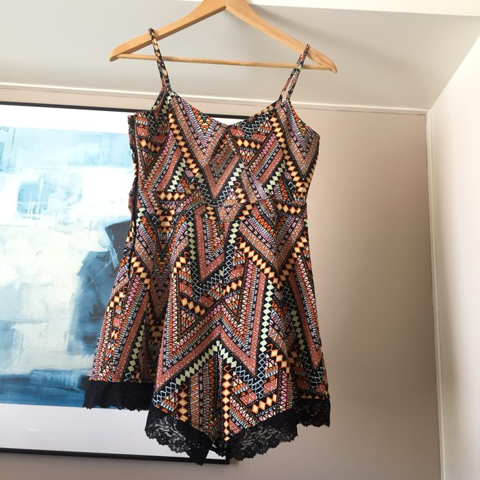 H&M κοντή αμάνικη ολόσωμη φόρμα. Tribal,. Photo 8