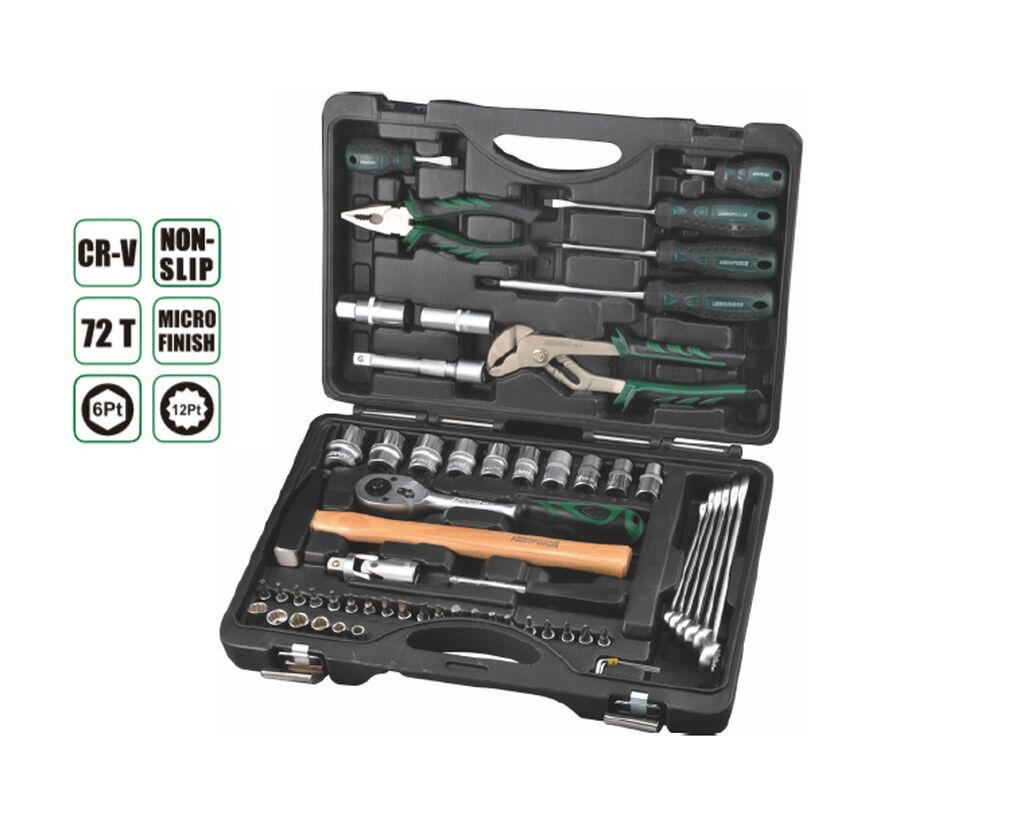 Набор инструментов 59-1 прс , AE-S59-1, * 6шт 1/4 гнезд13 мм;, * 20шт 1/4 бит гнездо:T8, T10,T15,T20,T25,T27,T30, H3,, Н4,Н5,Н6,Н8,SL4,SL5