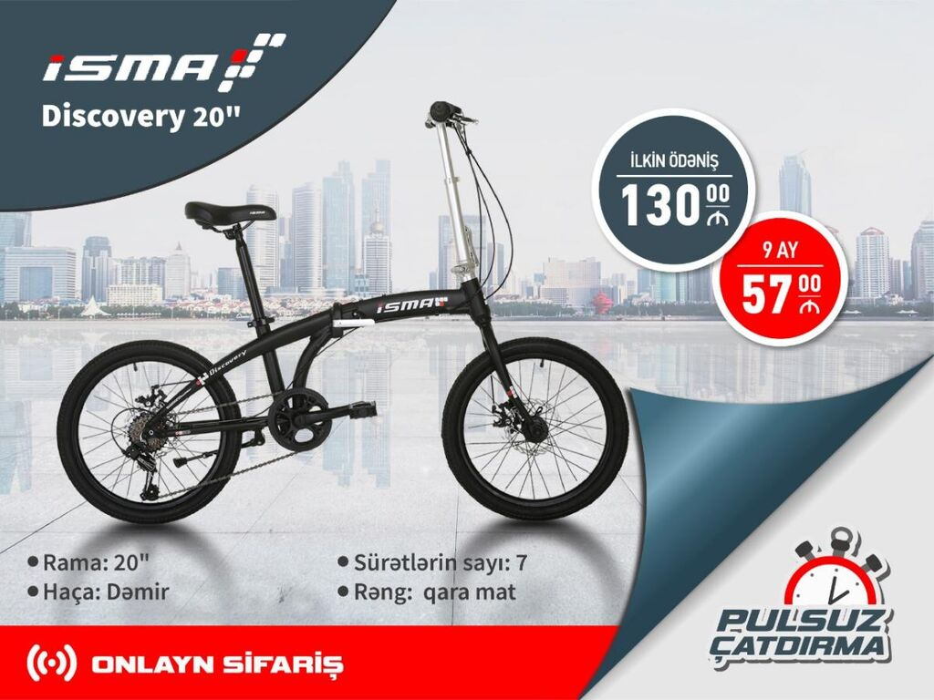 """""""ISMA"""" Discovery20"""" Velosiped"""