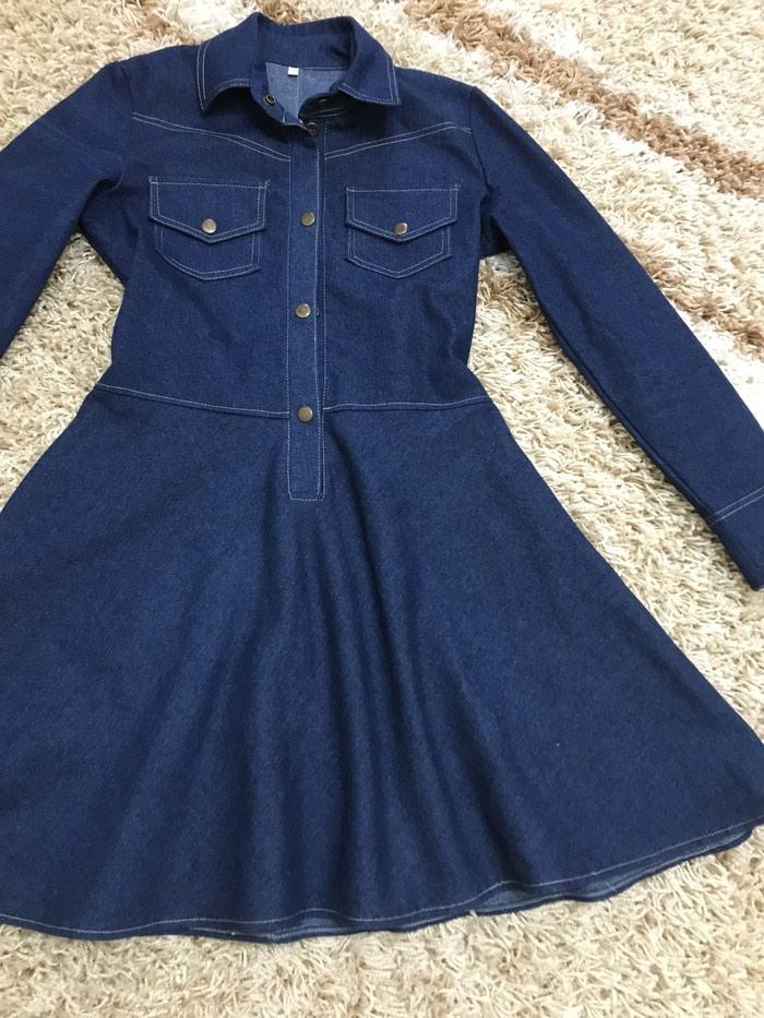 e858002e054 Продаю новое джинсовое платье. Размер s за 700 KGS в Бишкеке  Платья ...