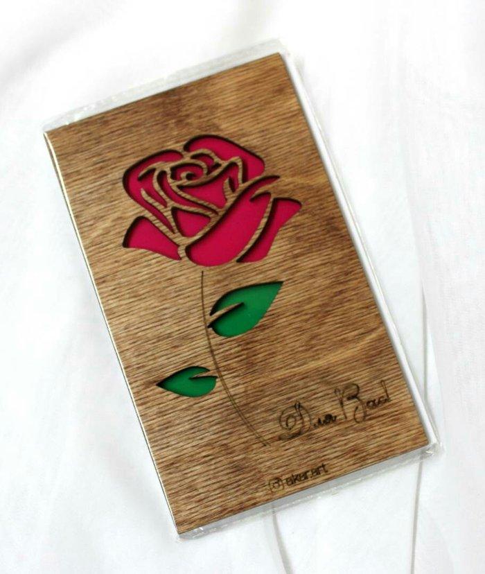 Прекрасного вечера, изготовление деревянных открыток на заказ