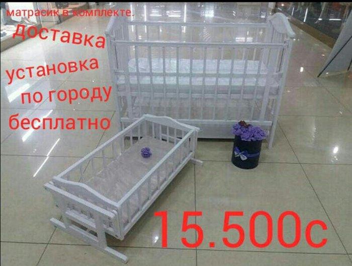 Кроватка. 503. 4 цвета белая, дуб. в Бишкек