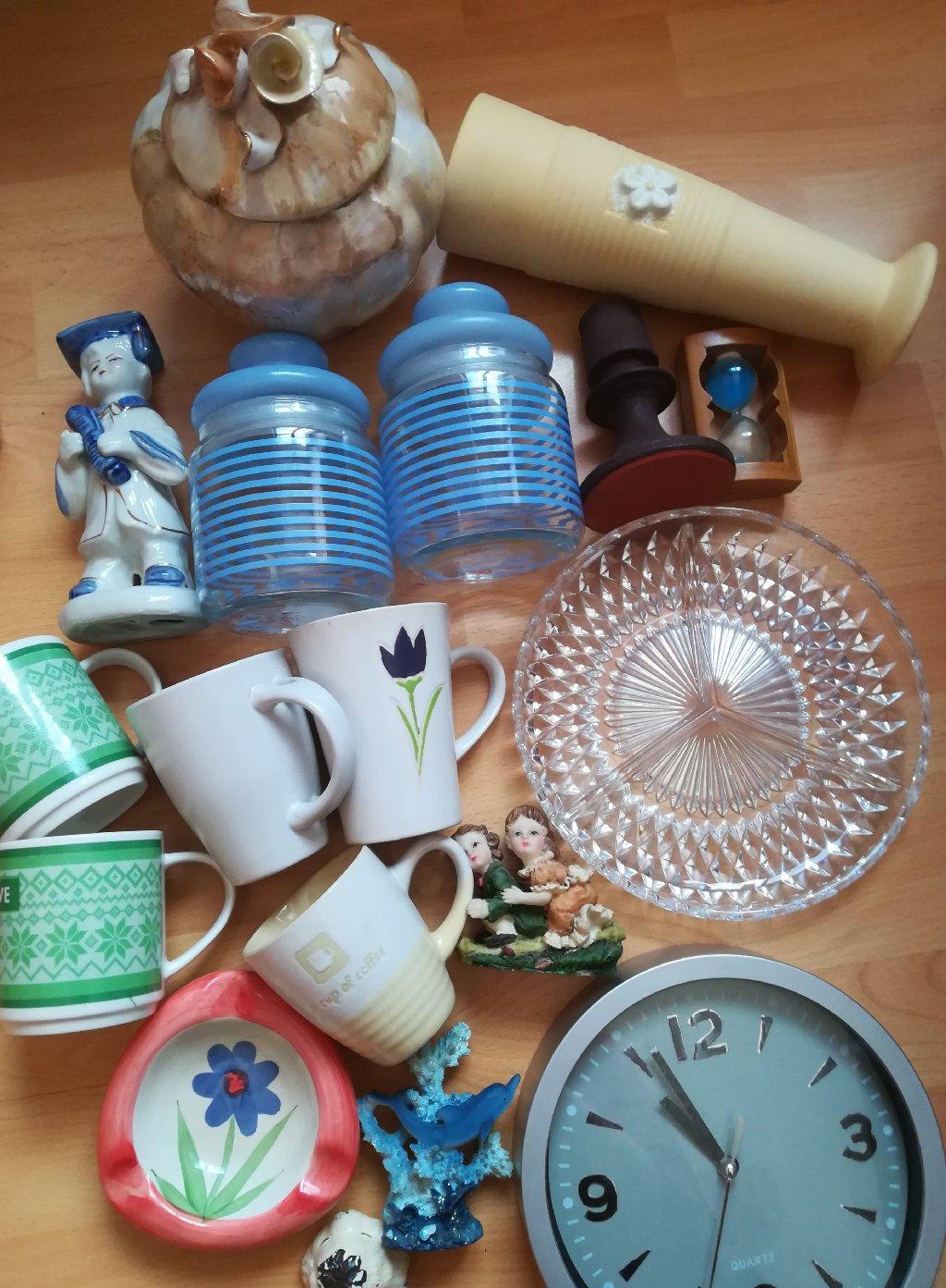 Rasprodaja raznih stvari za kuhinju-čaše, šolje,suveniri, vaze, činije, zidni sat, sve u izuzetnom stanju
