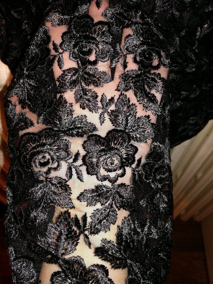 Predobra haljina cela od cvrste cipke i satenskom postavom,vel:S-M. Photo 4