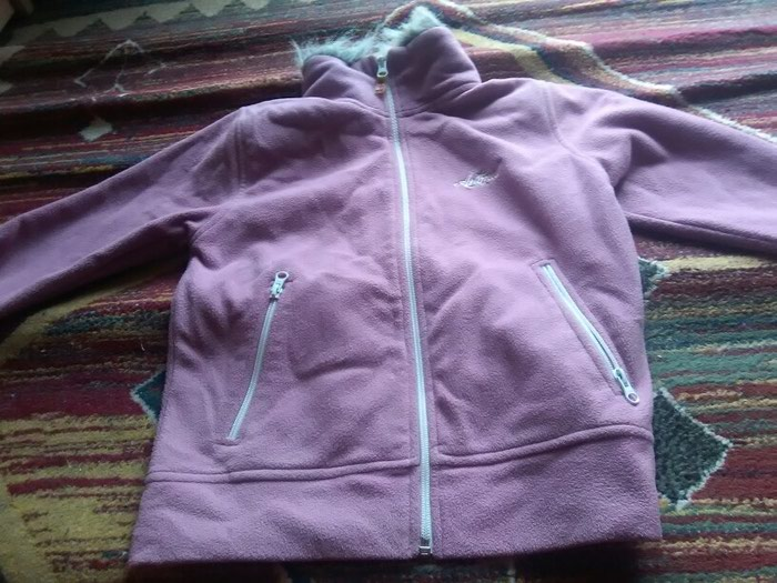 Pink jacket for winter princesses  size: Medium 100% cotton. Photo 1