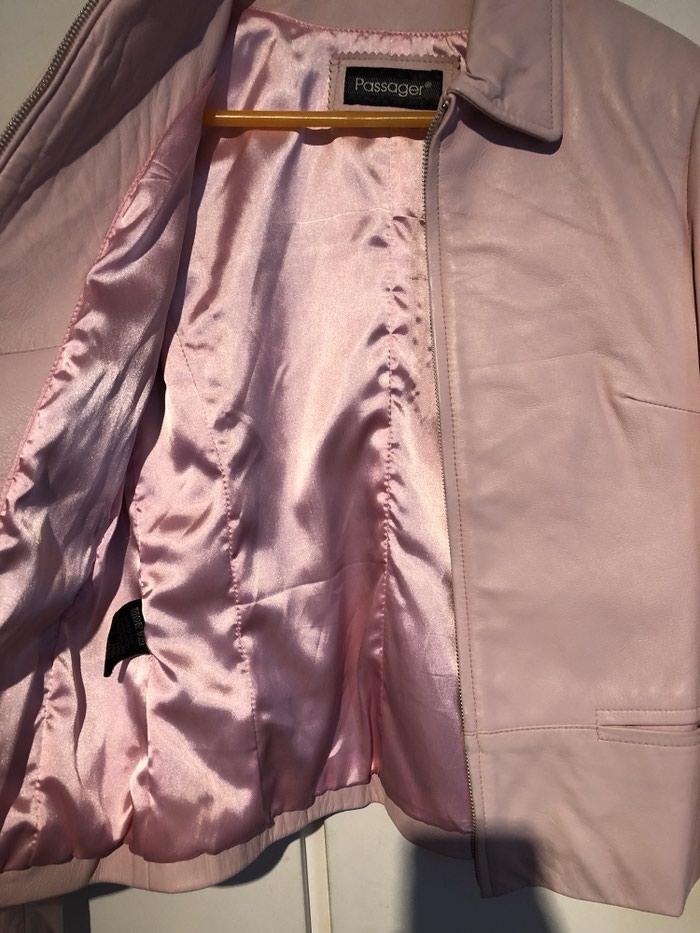 Δερματινο τζακετ 100% leather σε ροζ χρωμα  Medium. Photo 1