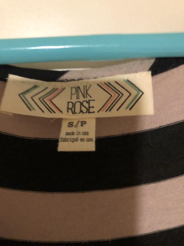 Kαφέ και μαύρο φόρεμα apo PINK ROSE size SMALL. Photo 2