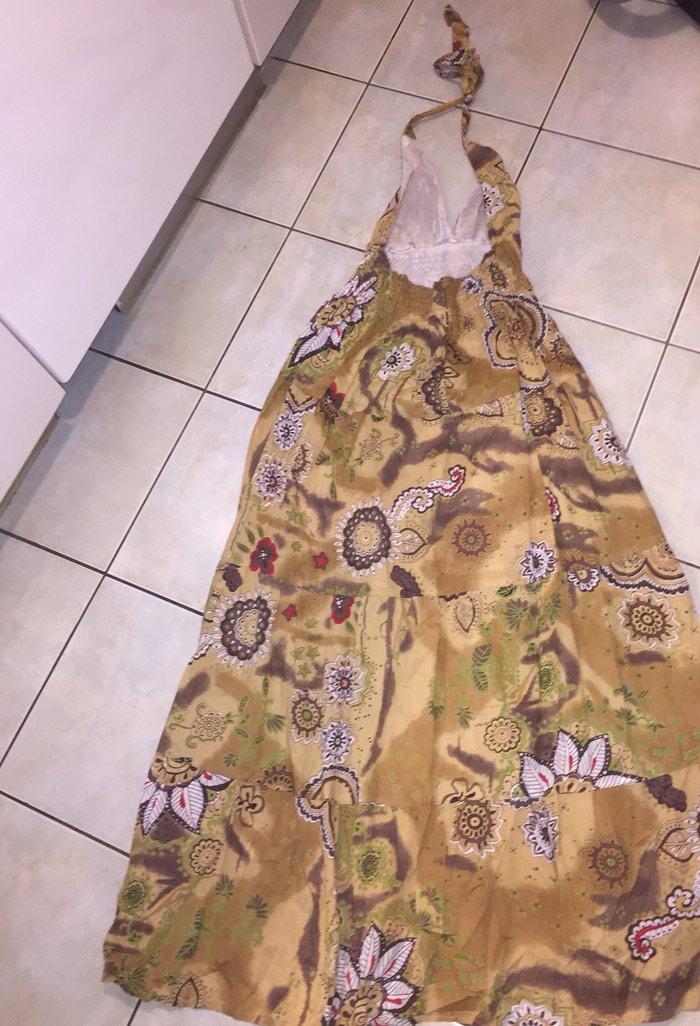 Boho maxi ββακερο φορεμα με ανοιχτη πλατη . Αφορετο . Νο small . Photo 3