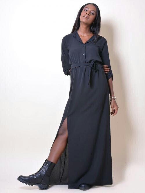 ολοκαινουριο μαξι φορεμα αφορετο με σκισιμο στο πλαι m-l. αποστολη με  σε Αθήνα
