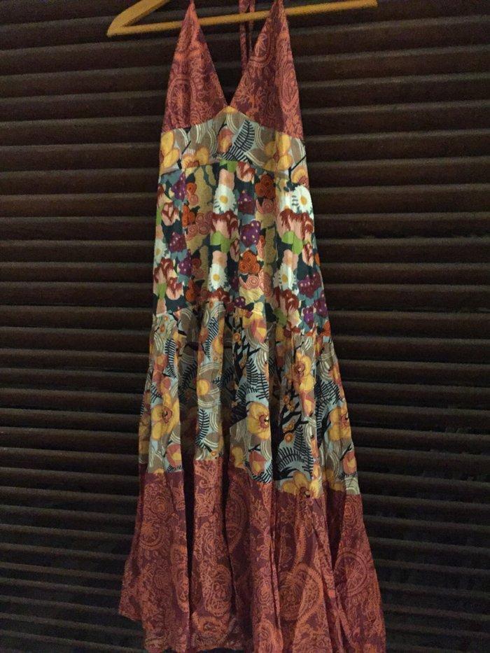 Φόρεμα boho βαμβακερό .Εξώπλατο με φαρύα φούστα . Αφόρετο . Νο Small Τ. Photo 0