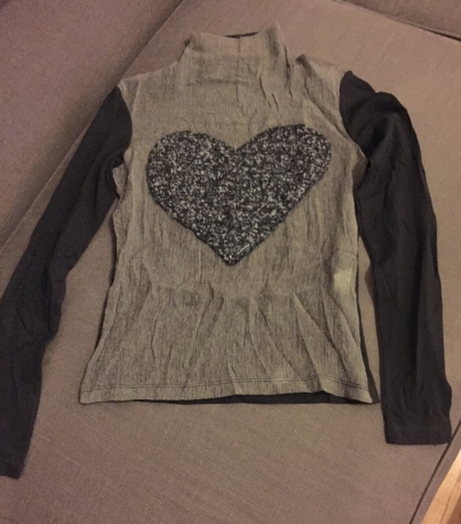 Replay original women's blouse with heart - wool decoration