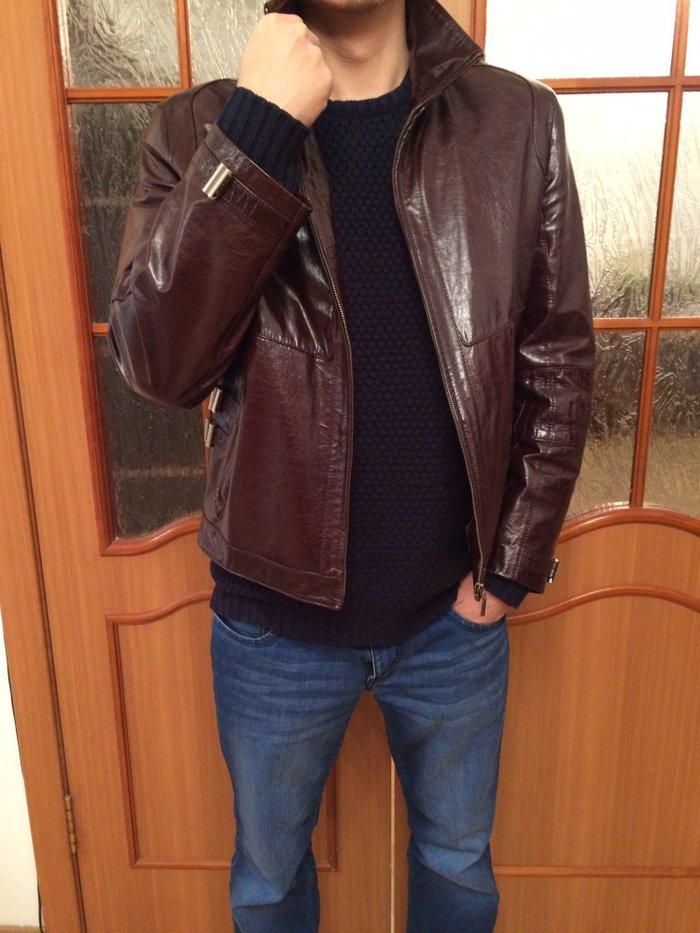 c47e0fafba4f Стильная лакированная кожаная куртка, размер 50-52 , состояние новое в  Бишкек