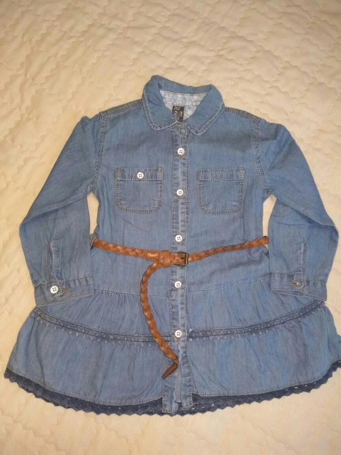 Джинсовое платье на2-3 года,Zara в отличном состоянии,тонкая джинса. в Бишкек