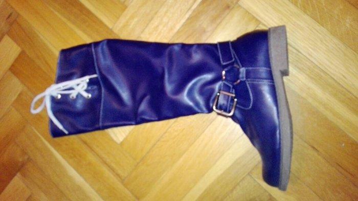 Nove cizme, do kolena, teget,  37 akcija - Jagodina