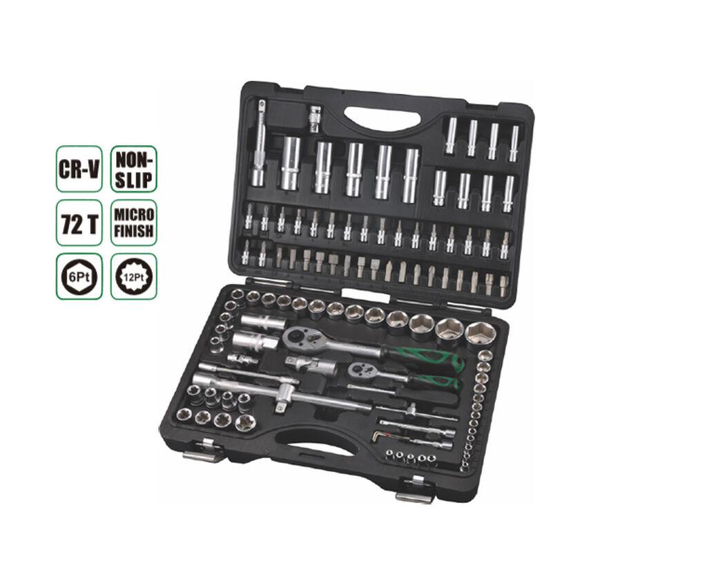 Набор инструментов 109 прс, AE-S109, 18ШТ 1/4 бит гнездо: T8,Т10,Т15,Т20,Т25,Т27,Т30,Н3, Н4,Н5,Н6,SL4,SL5