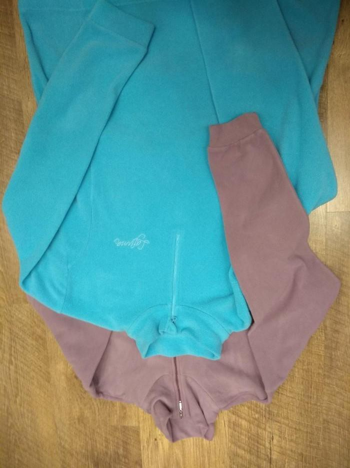 Толстовки флисовые женские, сиреневпя размер М, голубая xxl.. Photo 2