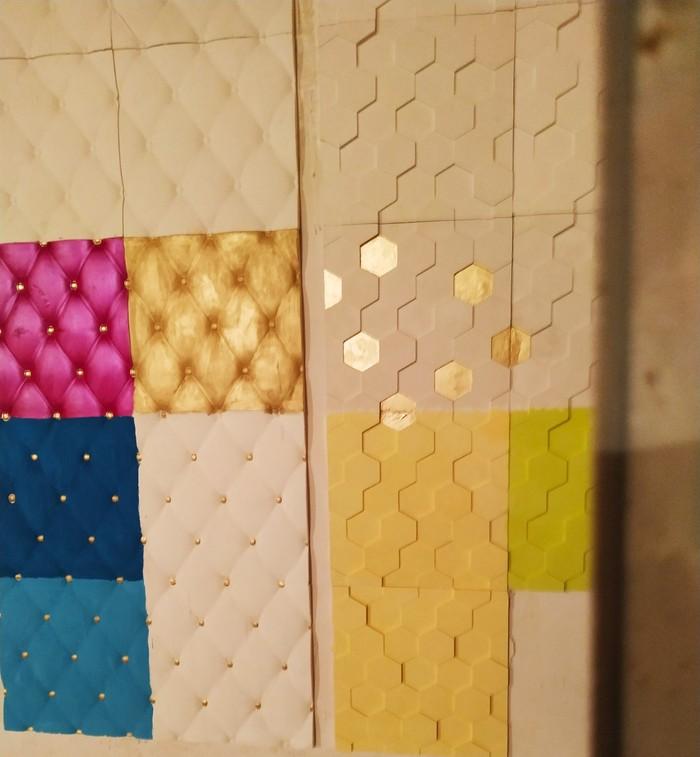 3D панель 45 сомон квадрат . Photo 3