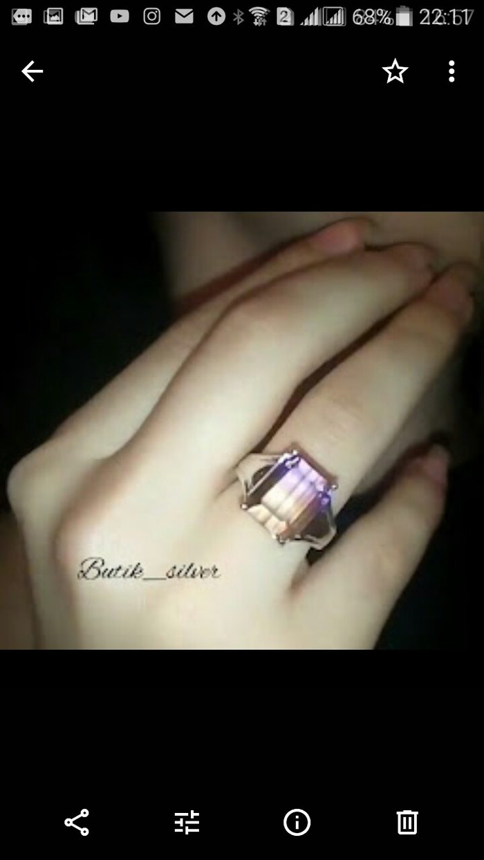 Кольцо с аметрином.. Photo 0