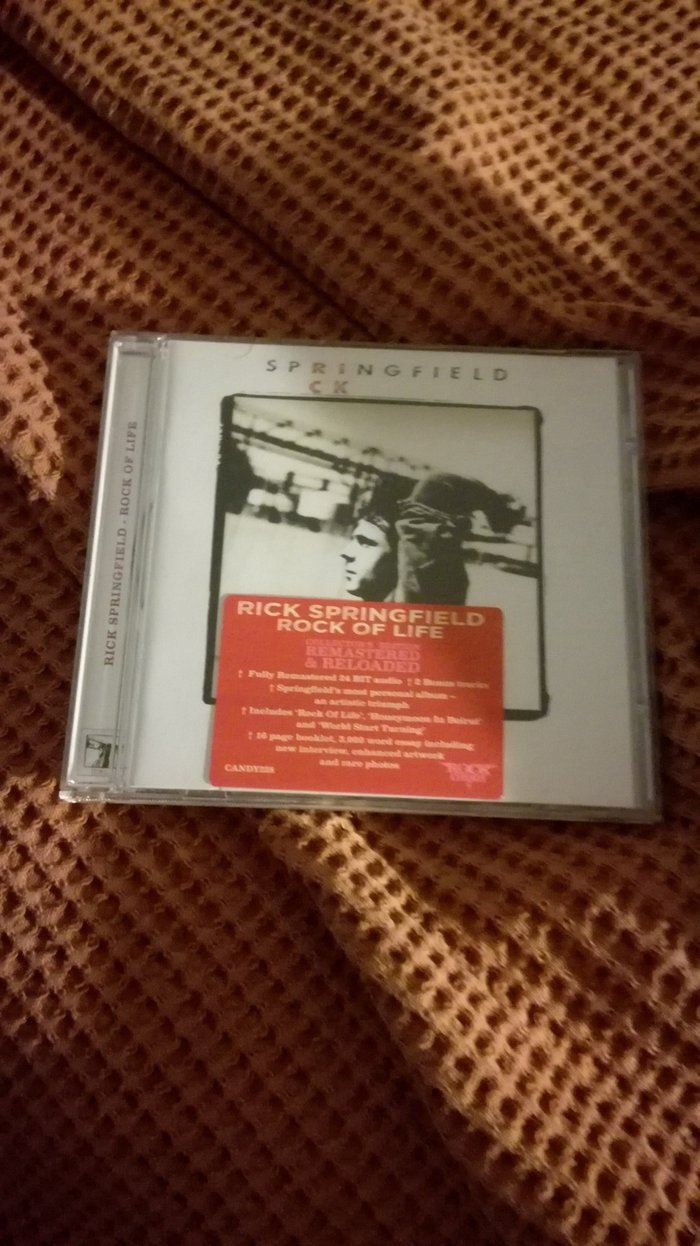 Rick Springfield's Rock Of Life Rock Candy CD with sticker.. Photo 0