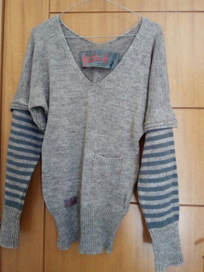 Πλεκτή ριχτη μπλούζα aggressive design size small.. Photo 1