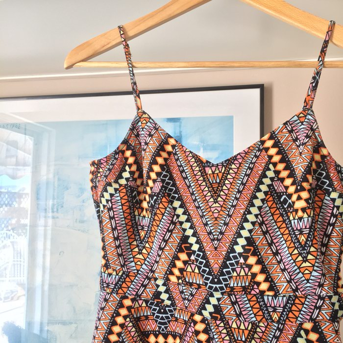H&M κοντή αμάνικη ολόσωμη φόρμα. Tribal,. Photo 4