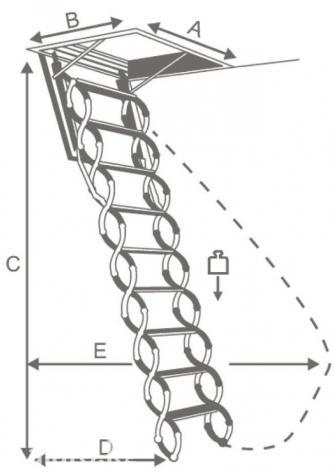 Имеются несколько классов секционных лестниц :