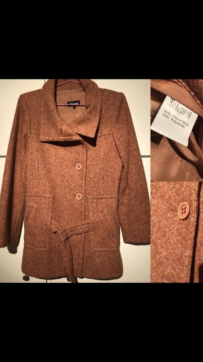 Γυναικειο παλτο toi moi κεραμιδι χρωμα  πολυ ζεστο  No large. Photo 0