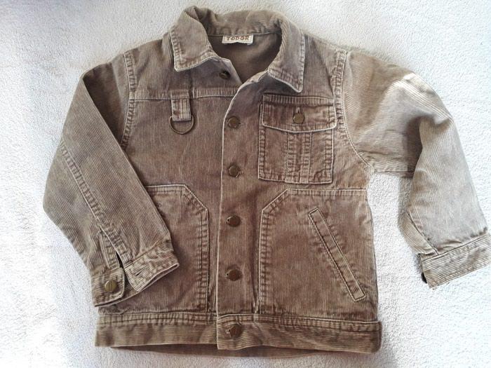 Dečije jakne i kaputi - Nis: Somotska jakna Todor,  nekolikobputa obučena, baš kao nova