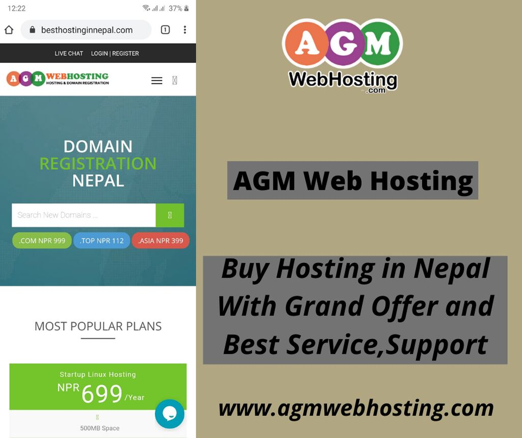 Buy Hosting in Nepal With Grand Offer Sale - AGM Web Hosting