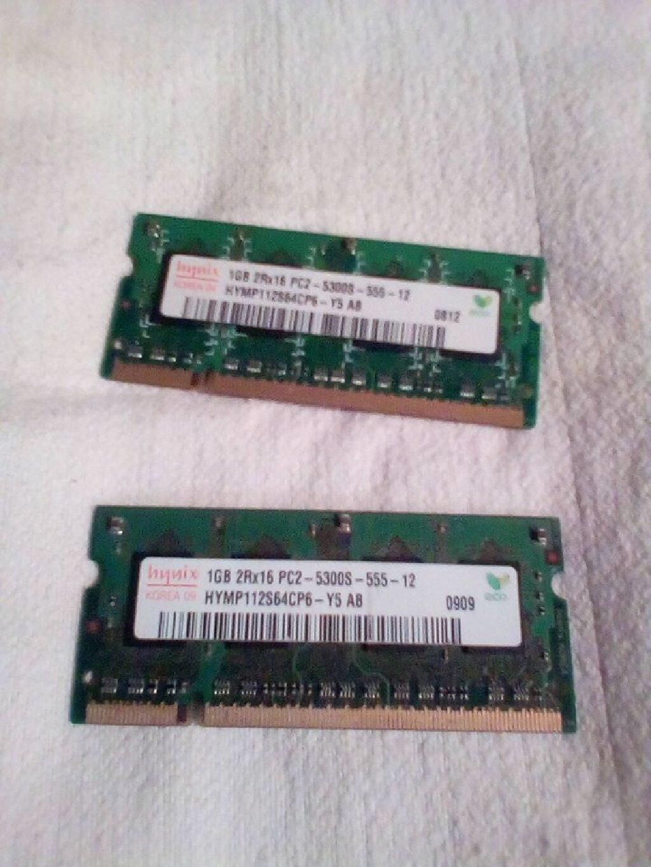 Ram memorije 2,X,po 1GB,nove