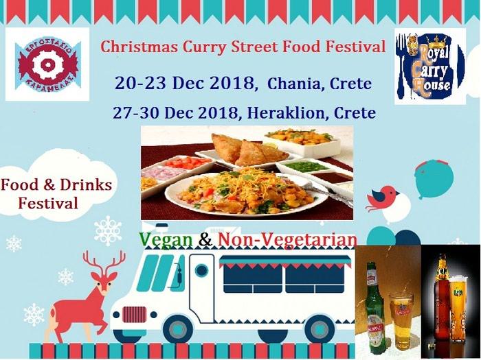 Christmas Curry Street Indian Food & Drinks Festival σε Κρήτη