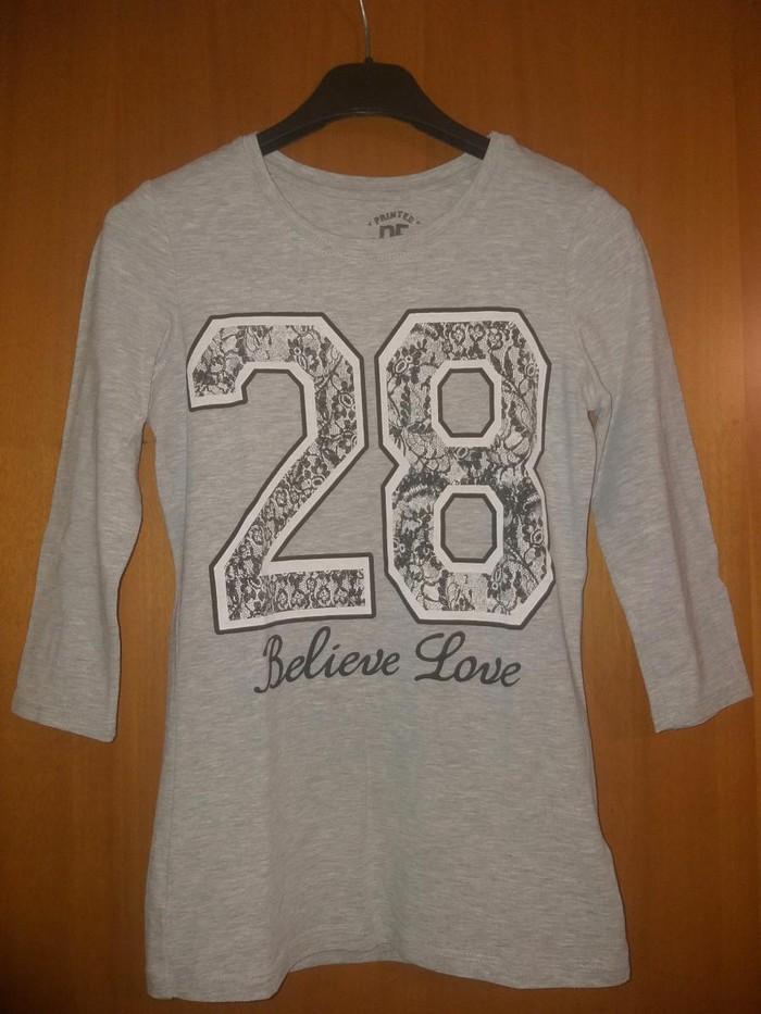 Ανοιξιάτικη μπλούζα μανίκια 3/4 χρώμα: γκρι Νούμερο:xxs-s. Photo 0