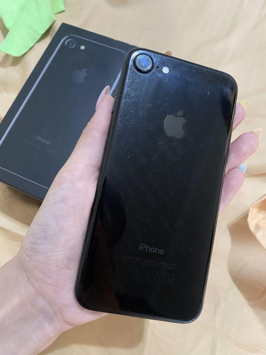 IPhone 7   128 ГБ   Черный Б/У   Трещины, царапины, Отпечаток пальца, С документами: IPhone 7   128 ГБ   Черный Б/У   Трещины, царапины, Отпечаток пальца, С документами