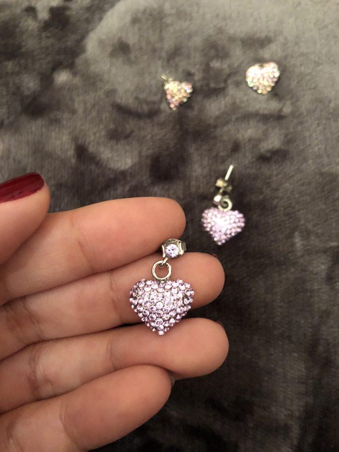2 ζευγαρια σκουλαρικια με καρδιες !!! Σουπερ τιμη !!! Προλαβε τωρα . Photo 3