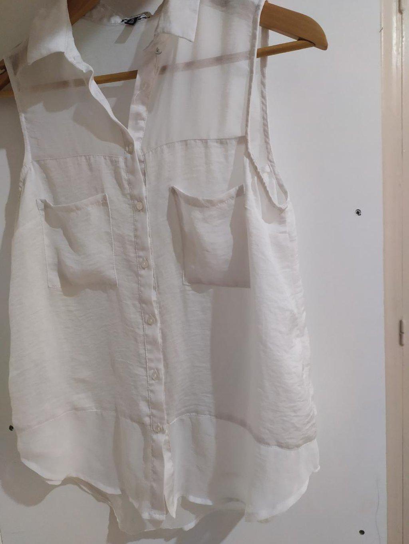 Άσπρο see through πουκάμισο Αμανικο Άριστη κατάσταση