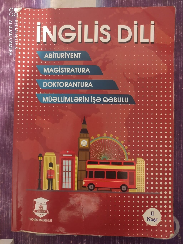 İngilis dili dərslik, Master N1 | Elan yaradılıb 13 Oktyabr 2021 09:55:07 | KITABLAR, JURNALLAR, CD, DVD: İngilis dili dərslik, Master N1