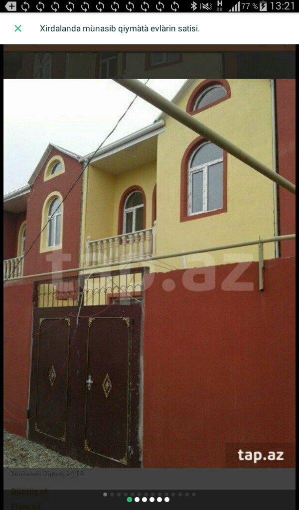 Xırdalan şəhərində Xirdalanda  2 màrtàbàli 4 otaqli tàmirli hàyàt evi tàcili satilir. Evi